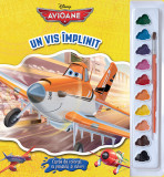 Avioane. Un vis împlinit. Carte de colorat cu pensula și culori