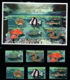 Eritrea 2000 Red sea fish set + perf sheets Mi.218-23+KLB MNH DE.222, Nestampilat