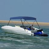 Parasolar barcă Bimini cu 2 arcuri, bleumarin, 150x120x110 cm, vidaXL