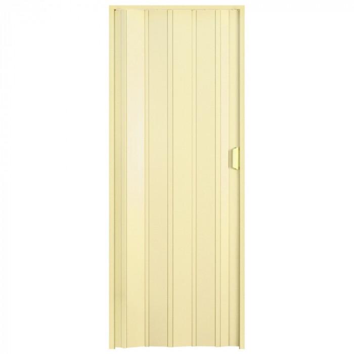 Usa plianta PVC Italbox Aurora Large, deschidere stanga/dreapta, inchidere cu magnet, 85x203cm, Crem
