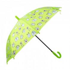 Umbrela pentru fete, automata Pami Monster 80 cm Verde