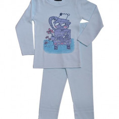 Pijamale baieti, maneca lunga, subtiri, bumbac