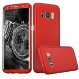 Husa Samsung Galaxy Note 8 Flippy Full Cover 360 Rosu + Folie de protectie