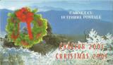 România, LP 1573a/2014, Crăciun 2001, în carnete cu viniete autocolante