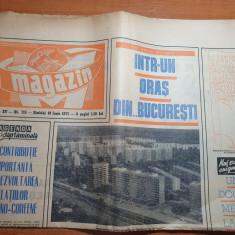 magazin 19 iunie 1971-articol si foto orasul bucuresti,articol badea cartan