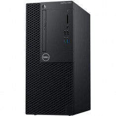 Sistem Desktop PC Dell OptiPlex 3060 MT cu procesor Intel® Core™ i3-8100 3.6GHz Coffee Lake, GMA UHD 630, 4GB DDR4, 256GB SSD, Ubuntu, NBD, Mouse + Ta