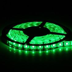 Banda LED pentru exterior, IP 67, lumina verde, consum 9,6 W/m, lungime 1 m