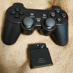 Controller/maneta/telecomanda wireless(fara fir), pentru PS2, nou!
