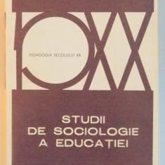 STUDII DE SOCIOLOGIE A EDUCATIEI de BASIL BERNSTEIN , 1978