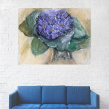 Tablou Canvas, Floare Mov - 20 x 25 cm