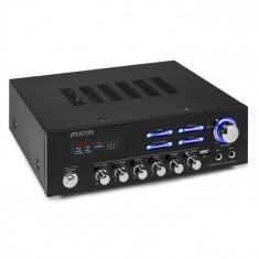 Fenton AV120BT, amplificator stereo HiFi, 120 W RMS, (2 x 60 W la 8 Ohm), BT / USB / AUX