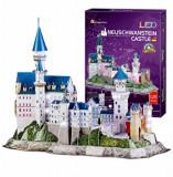 Puzzle 3D Led - Castelul Neuschwanstein, 128 piese, CubicFun