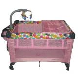 Patut pliabil pentru copii BabyCare PPBC1R, Multicolor