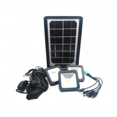 Kit solar CClamp, 5000 mAh, USB, 3 surse lumina LED, lanterna 2 intensitati lumina