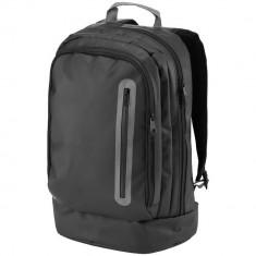 Rucsac Laptop 15.4 inch, rezistent la apa, buzunar frontal cu fermoar vertical, Everestus, NH, tarpaulin, negru
