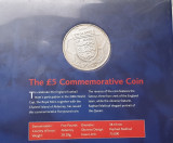 5 pounds / lire Alderney 2004, 50th Anniversary of England W.C. 1966
