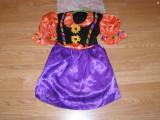 costum carnaval serbare vrajitoarea toamnei pentru copii de 2-3-4 ani