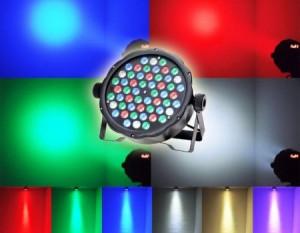 LICHIDARE STOC! PROIECTOR,PAR CU 54 LEDURI RGB COLOR,AFISAJ,LUMINI ARHITECTURALE
