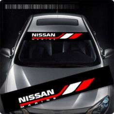Sticker parasolar auto NISSAN (126 x 16cm)