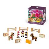 Set de joaca din lemn, Mini povesti Janod, Scoala de echitatie