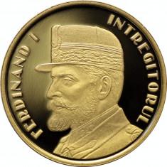 50 bani 2019 PROOF Ferdinand I Intregitorul MAREA UNIRE Desavarsirea Marii Uniri