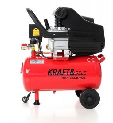 Compresor de aer industrial 24 litri, 2.8kW, 220V KraftDele KD400 TBC foto