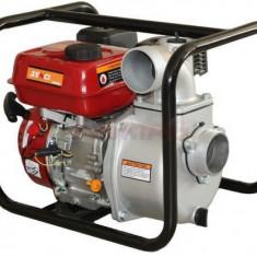 Motopompa Senci SCWP-80 pentru apa curata, debit apa 60 mc/h, diametru refulare 80 mm, Motor Senci 7.5 cp, Benzina