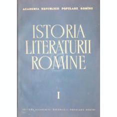 Istoria literaturii romane, vol. 1