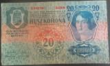 Bancnota ISTORICA 20 COROANE - AUSTRO-UNGARIA (AUSTRIA), anul 1913  *cod 190  A