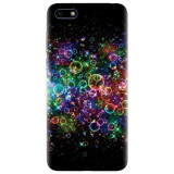 Husa silicon pentru Huawei Y5 2018, Rainbow Colored Soap Bubbles