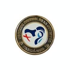Panama 1 Balboa 2019 - (Logo ZMT - colorata) Bimetalic, 26.5mm, KM-New UNC !!!, America de Nord