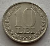 10 Lei 1992 Romania, a  UNC, Luciu de batere