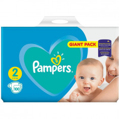 Scutece Pampers New Baby 2 Giant Pack, 100 bucati