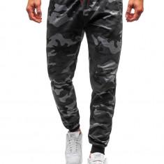 Pantaloni de trening bărbați camuflaj-grafit Bolf MK19