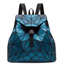 Rucsac Dama Geometric Hologram Bleumarine