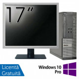 Calculator DELL Optiplex 3020 SFF, Intel Pentium G3220 3.00GHz, 4GB DDR3, 500GB SATA, DVD-RW + Monitor 17 Inch + Windows 10 Pro