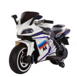 Motocicleta electrica cu lumini LED Sport White, Moni