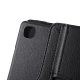Husa tip carte cu stand rotativa neagra pentru Samsung Galaxy Tab A7 10.4 (2020) T500 / T505
