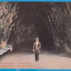 (3) CARTE POSTALA DIN PERIOADA AUSTROUNGARA - BAILE HERCULANE - PESTERA, Necirculata, Printata