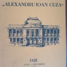 Universitatea Alexandru Ioan Cuza iulie-Decembrie 1988
