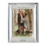 Rama Foto de Argint 13X18(21×26) cm pentru Nunta de Argint 25 Ani Casatorie Lemn Maro COD: 2611