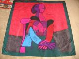 "Cumpara ieftin Esarfa matase naturala ""Picasso"", ca noua"
