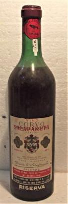 B 44 - VIN  rosu CORVO DI SALAPARUTA, recoltare 1962 cl 72 gr 13 foto