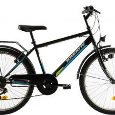 Bicicleta Copii Kreativ 2413 Negru 24 Inch