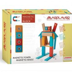 Set magnetic din lemn - 24 piese