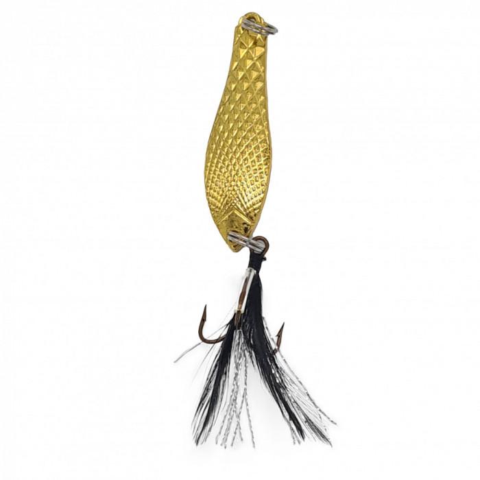 Lingurita oscilanta pentru pescuit, model LO01, culoare auriu