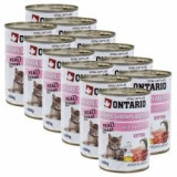 Conservă ONTARIO Kitten - cu pui, creveți, orez și ulei - 12 x 400 g
