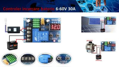 Controler incarcare baterie panou solar fotovoltaic 6 - 60 VDC foto