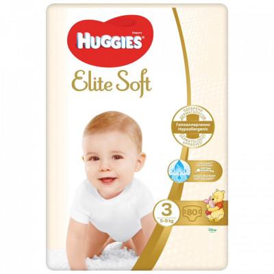 Scutece Huggies Elite Soft Nr.3, 5-9 kg, 80 buc foto