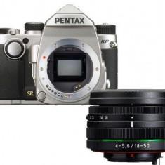 Aparat Foto D-SLR Pentax KP + 18-50mm WR, 24MP CMOS (Argintiu)